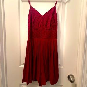BNWT Maurices Red Lace Romper
